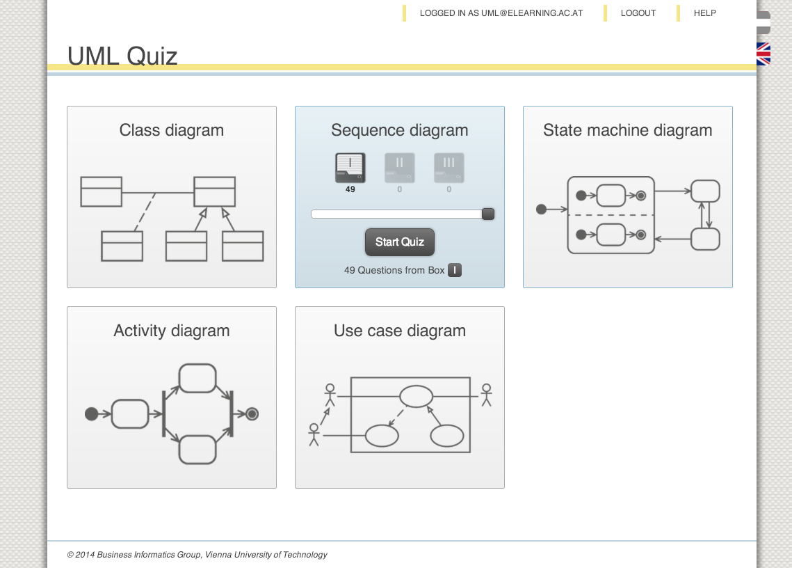 Help quiz overview logged in ccuart Images